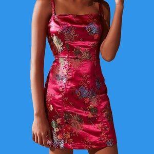 rban Outfitters Red Oriental Print Mini Dress